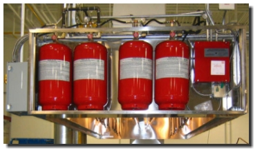Ansul Kitchen Hood System. Restaurant Kitchen Hood Fire Suppression Systems